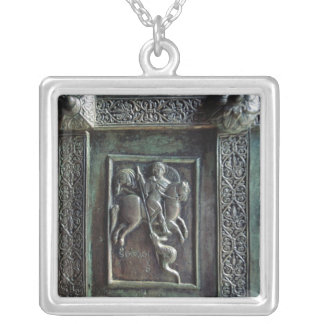St. George and the Dragon Silver Plated Necklace