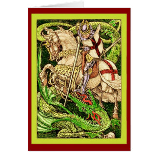 St. George and the Dragon  ~ Vintage Art Nouveau Greeting Card