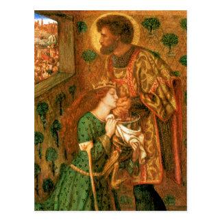 St George and the Princess Sabra Postcard