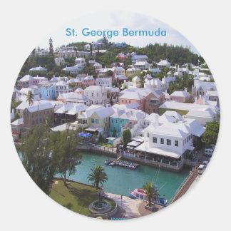 St. George Bermuda Round Sticker