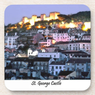 ST GEORGE CASTLE-Portugal, cork coaster