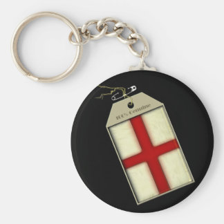St George Cross Label Key Chains
