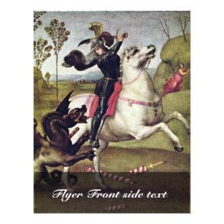 St. George Fighting The Dragon By Raffael Custom Flyer