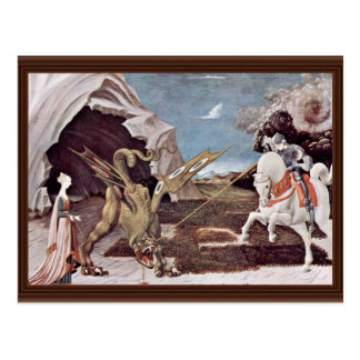 St. George Fighting The Dragon By Uccello Paolo Postcard