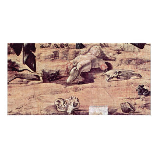 St. George Fighting The Dragon Detail By Carpaccio Photo Card