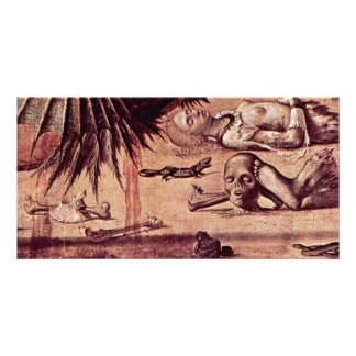 St. George Fighting The Dragon Detail By Carpaccio Personalised Photo Card