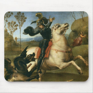 St George Fighting the Dragon Mouse Pad