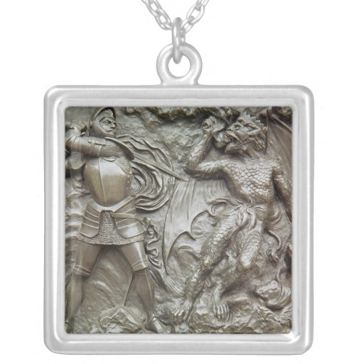 St. George Fighting the Dragon Pendant