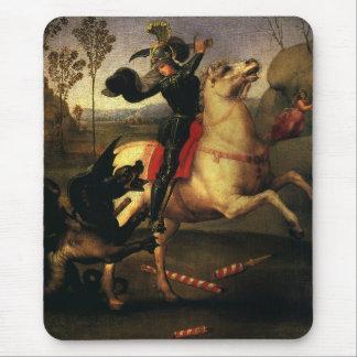 St. George Fighting the Dragon, Raphael, Raffaello Mouse Pad
