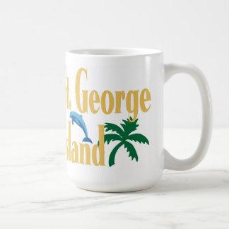 St. George Island Florida Basic White Mug