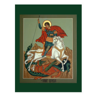 St. George Prayer Card Postcard
