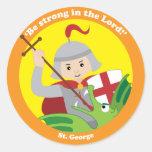 St. George Round Sticker