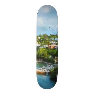 St George s Harbour Bermuda Custom Skate Board