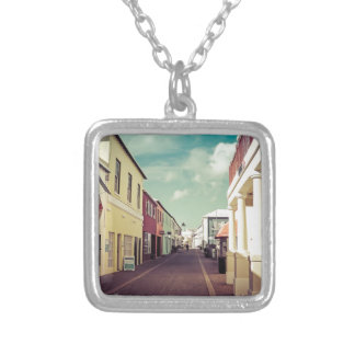 St George Side St 1 Silver Plated Necklace