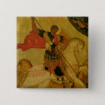 St. George slaying the Dragon 15 Cm Square Badge