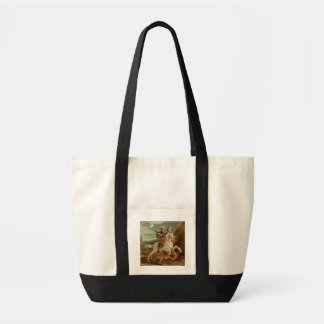St. George slaying the dragon, (oil on panel) Tote Bag