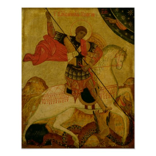 St. George slaying the Dragon Poster