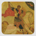 St. George slaying the Dragon Square Sticker