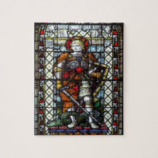 St George stained glass window Jigsaw Puzzle