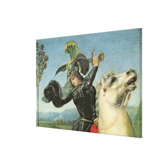 St. George Struggling with the Dragon Canvas Print