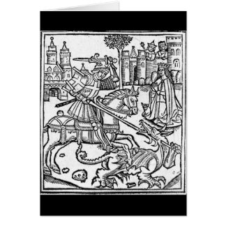 St George vs The Dragon Greeting Card