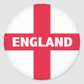 St George's Cross - England Flag Classic Round Sticker