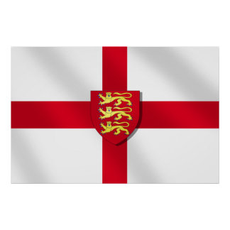 St. George's cross flag England 3 lions 2012Poster Poster