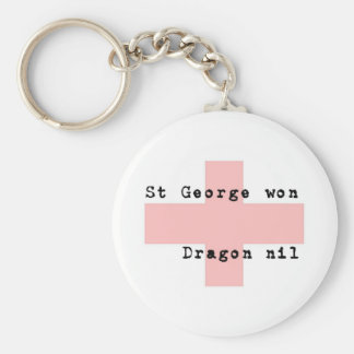 St George's Day Basic Round Button Key Ring