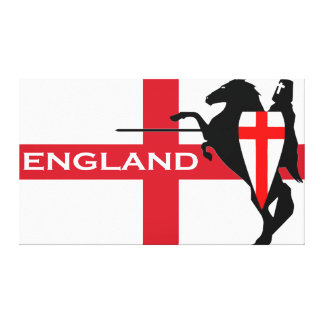 St. George's Day England Flag Wrapped Canvas