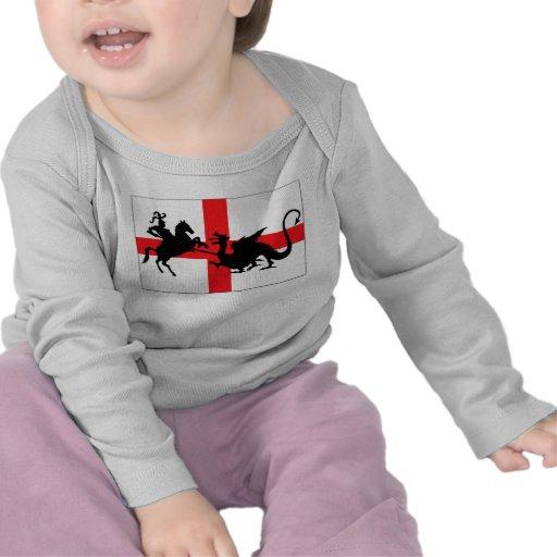 St George's Day English flag baby Tee Shirts