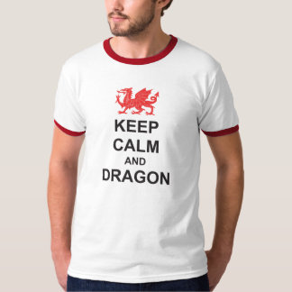 St Georges Day KEEP CALM and DRAGON T Shirt
