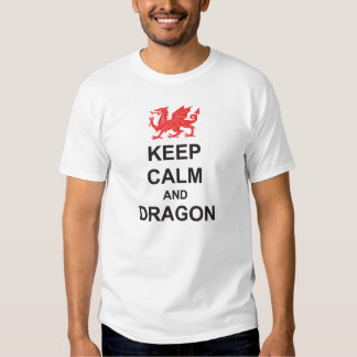 St Georges Day KEEP CALM and DRAGON T Shirts