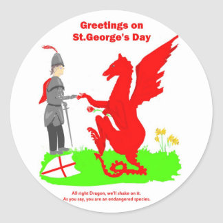 St.George's Day stickers
