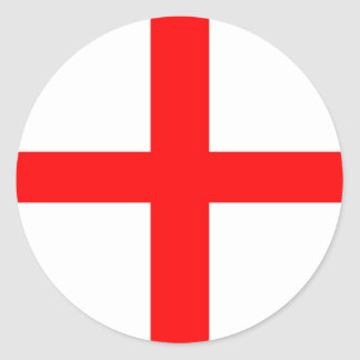 ST GEORGES FLAG - PLAIN CLASSIC ROUND STICKER