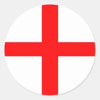ST GEORGES FLAG - PLAIN ROUND STICKER