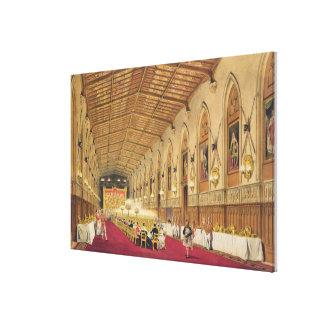 St George's Hall, Windsor Castle, 1838 (colour lit Canvas Print