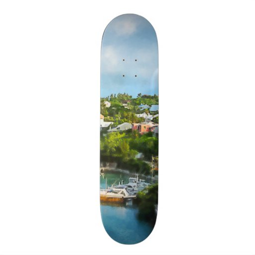 St. George's Harbour, Bermuda Custom Skate Board