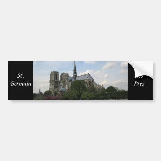 St. Germain des Pres Car Bumper Sticker