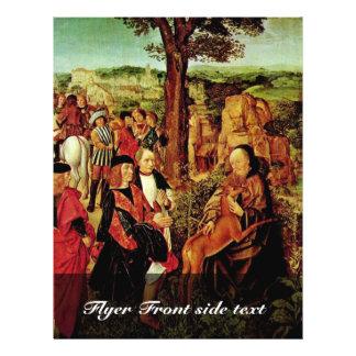 St Giles And The Hind By Meister Des Heiligen Ägi Full Color Flyer