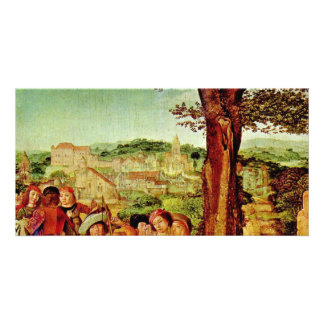 St. Giles And The Hind Detail By Meister Des Heili Customized Photo Card