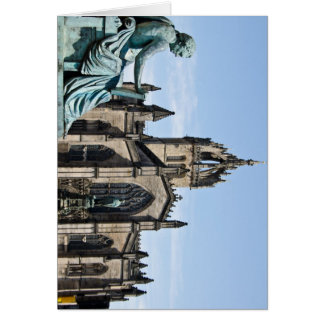 St. Giles Cathedral and David Hume Statue Greeting Card