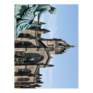 St. Giles Cathedral and David Hume Statue Postcard