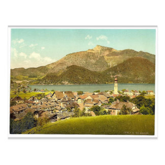 St. Gilgen, towards the Schafberg, Upper Austria, Postcard