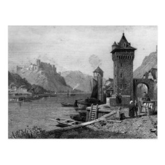 St. Goar, engraved by J. Outhwaite Postcard