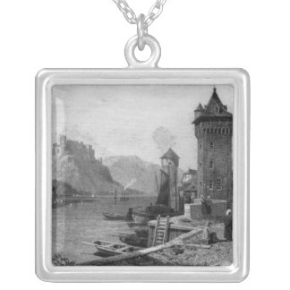 St. Goar, engraved by J. Outhwaite Silver Plated Necklace