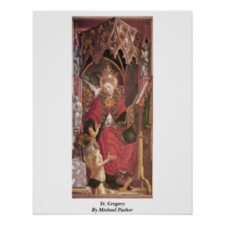 St. Gregory By Michael Pacher Print