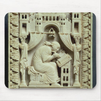 St. Gregory writing with scribes below Mouse Mat