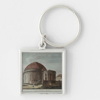 St. Hedwig, Cathedral, Berlin Silver-Colored Square Key Ring