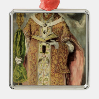 St. Ildefonso  1605-1610 Silver-Colored Square Decoration