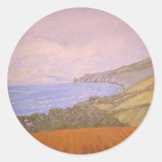 St Ives Cornwall Round Sticker